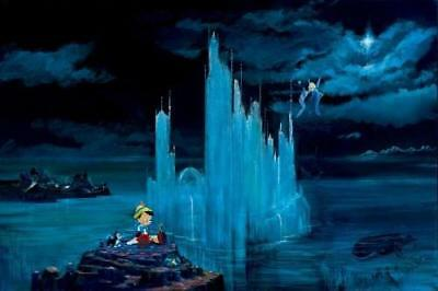 """""""Blue Castle"""" by Peter and Harrison Ellenshaw inspired by Pinocchio"""