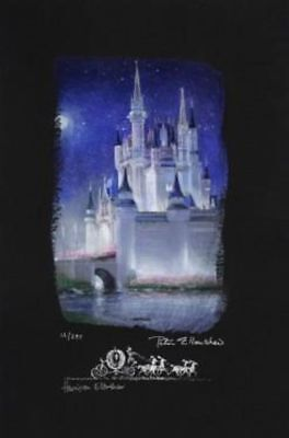 """Cinderella Castle"" (Deluxe, Chiarograph) by Peter and Harrison Ellenshaw inspir"