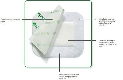 Mepore Sterile Absorbent Dressing(s) 11 x 15cm - Wounds Cuts Tattoos 671600