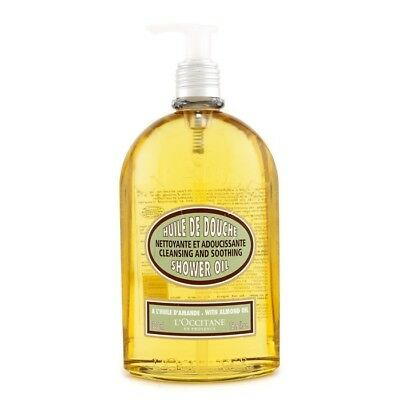 NEW L'Occitane Almond Cleansing & Soothing Shower Oil 500ml Womens Skin Care