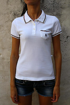 sports shoes 8e57b 7500d MARINA YACHTING VTG 80s POLO Casual WHITE Red & Blue piping T SHIRT TOP S  SUPER