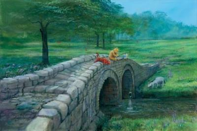 """""""Fishing With Friends"""" by Peter Ellenshaw inspired by Winnie the Pooh"""
