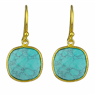 925 sterling Silver Turquoise gemstone earring fine jewelry 2.52g