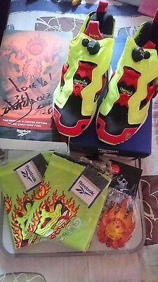 Reebok X Jackie Chan Insta Pump Fury 1998 Limited Edition With Autograph