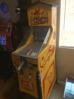 "Vintage Space Shot Target Coin Op 25 Cent Machine Arcade SHOOTING GALLERY ""RARE"""
