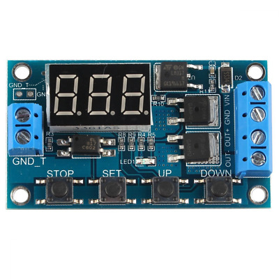 Trigger Cycle Timer Delay Switch Circuit Dual MOS Tube Control Board DC 24V/12V