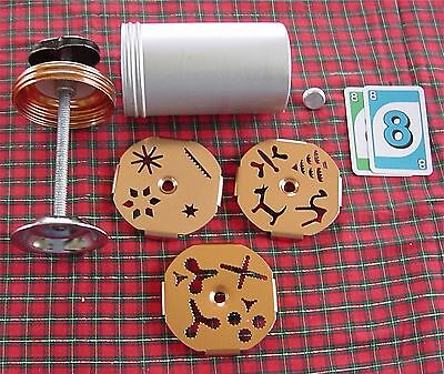 Vintage Mirro Cookie Cooky Press 3 dial a Plate 12 assorted Shapes Design  #88