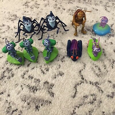 Disney Pixar A BUGS LIFE Toy Lot of 9 wind up squeeze Figures by MATTEL SHIPFAST