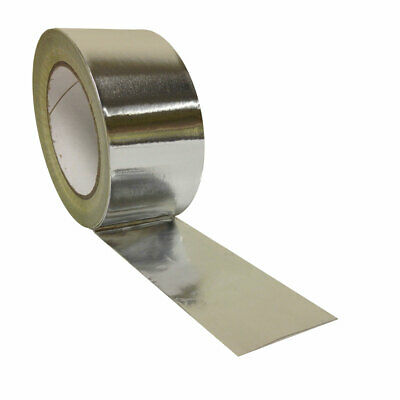 STRONG self adhesive Aluminium Foil Tape Heat Insulation Silver duct HIGH TEMP