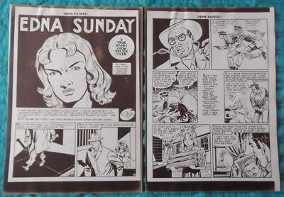 Johnny Craig Collection - EC Crime Patrol #13 - 8 Page Silver Print story