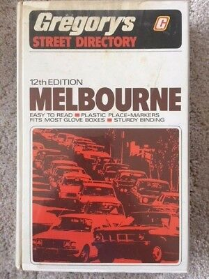 Gregory's Melbourne Street Directory 12th Edition (Hardcover, 1979)