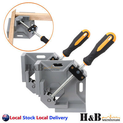 2 PCS 90° Corner Clamp Welding Vice Picture Frame Woodworking Alloy Body T0037