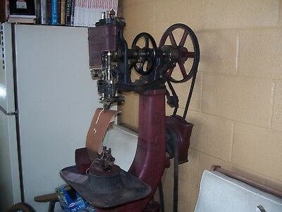Champion model 77 McKay stitcher shoe boot repair soler sewing machine