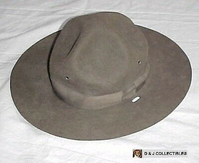 Ww I  Us Army Size 6 Olive Drab  Named Campaign / Service  Hat