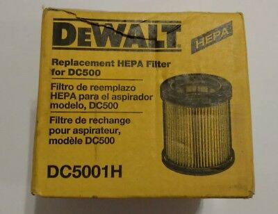 New Open Box DEWALT DC5001H Replacement HEPA Filter for DC500