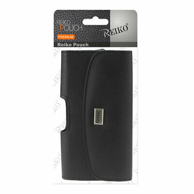 Reiko Horizontal Pouch with Card Holder Belt Clip for iPhone 6/6s Plus Black6.5""