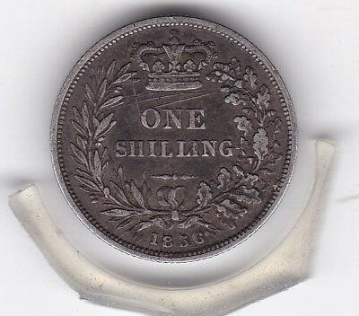 1856    Queen  Victoria  Sterling  Silver  Shilling  British Coin
