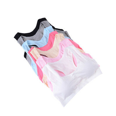 Baby Girls Cottons Bras Young Girls Underwears For Sports Trainings Puberty Bras