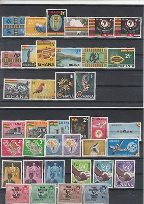 Ghana: 1958/1060 a nice collection.From SG185 to SG264. .Almost MNH complete.
