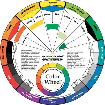 "Color Wheel by The Color Wheel Co. Artist Paint Mixing Guide 9 1/4"" Diameter"