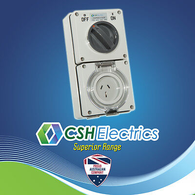 IP66 3 Pin 15 Amp Single Phase Switched Socket Outlet Weatherproof