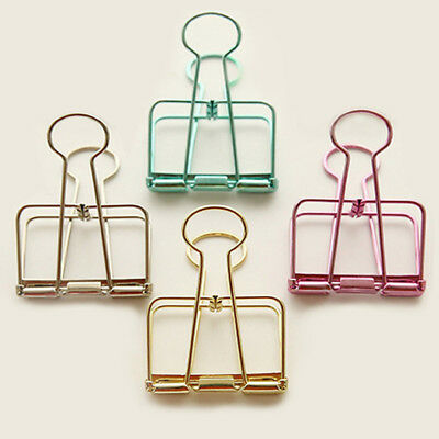 Hollow Metal Binder Clips Steel Wire-Craft Paper Photo Hanging Stationery Folder