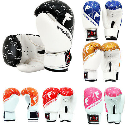 Boxing Gloves Kids Junior Youth Sparring Training Mitts MMA 6-oz Muay Thai Kick