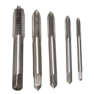 5pcs HSS Machine Screw Thread Metric Plug Tap 3mm 4mm 5mm 6mm 8mm M3-M8 Set Kit