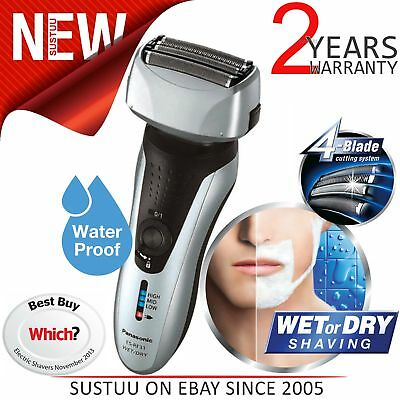 Panasonic Premium Wet/Dry Men's Rechargeable 4 Blade Shaver Trimmer ES-RF31S NEW