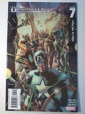 ULTIMATES 2 #7 by Mark Millar & Bryan Hitch, Marvel, 2005.  VFn-