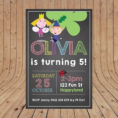 envs BH2 Personalised Ben and Holly/'s Little Kingdom Birthday Party Invites