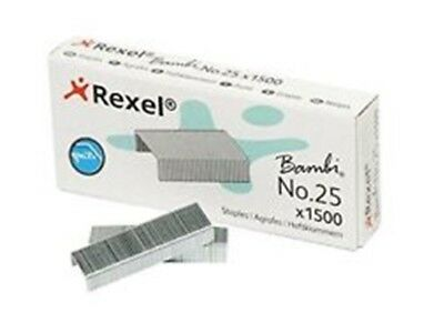 1 x Rexel Bambi No 25 Staples 05020 1500/Box R05020 FREE POST