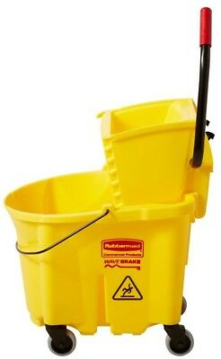 Rubbermaid Commercial Products WaveBrake 35-Quart Commercial Mop Wringer Bucket
