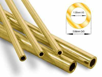 9ct Yellow Gold Hollow Round Tube / Bead  2mm Diameter MULTI-LENGTH  5mm - 30mm