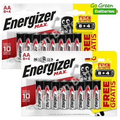 24x Energizer AA MAX Alkaline Powerseal Batteries LR6 MN1500 MIGNON *FILM OFFER*