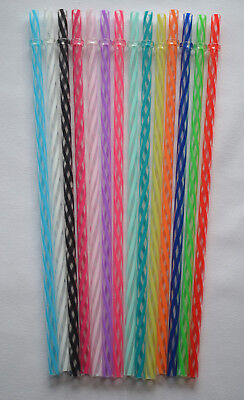"""""""CLEAR/SWIRLY"""" STRAWS, 9"""" or 11"""" Reusable, Replacement BPA Free"""