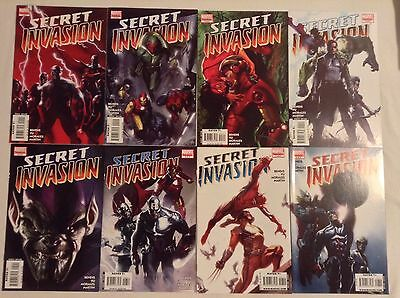 Secret Invasion (2008) 1 2 3 4 5 6 7 & 8 Complete Lot Bendis & Yu Mega Crossover