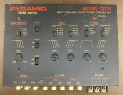 Vintage Pyramid Gold Series Multi Channel Electronic Crossover CR-75 (READ)