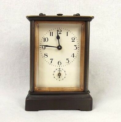 French Brass Carriage Alarm Clock