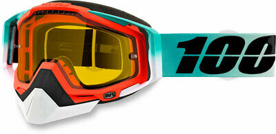 100% Snow Snowmobile RACECRAFT Goggles (Cubica w/Yellow Lens)
