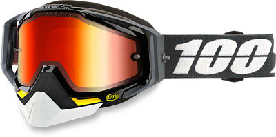 100% Snow Snowmobile RACECRAFT Goggles (Fortis w/Mirror Red Lens)