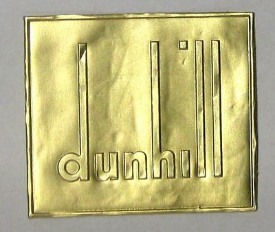 """vintage Alfred DUNHILL London gold foil label 2"""" x 1.75"""" unused EXC condition"""