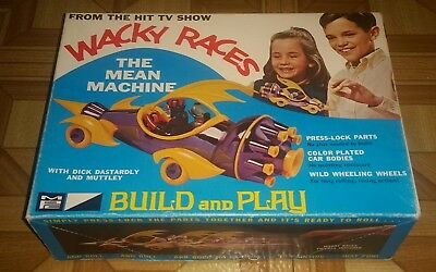 1968 Mpc Wacky Races  MEAN MACHINE original box in good condition TRUE VINTAGE