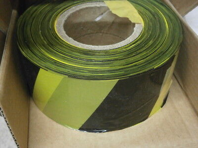 Box 4 Rolls 70mm x 500m Black & Yellow Barrier Safety Tape