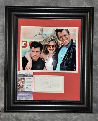 """Jeff Conaway Autographed Matted & Framed Display JSA Certificate COA """"Grease"""""""