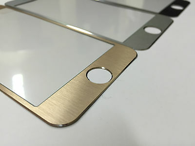 """Tempered Glass Screen Cover Protector Cover Aluminium Fits Edge iPhone 6 6S 4.7"""""""
