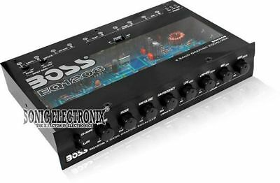 Boss EQ1208 In-Dash 4-Band Graphic Equalizer w/18dB Bass Boost