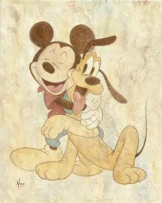 """Mickey & Pluto"" By Mike Kupka"