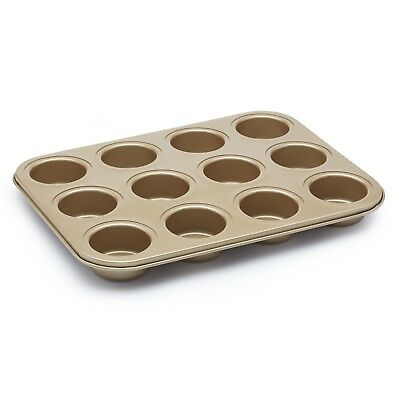 Paul Hollywood  by kitchencraft Non-Stick Twelve Hole Deep Baking Tin