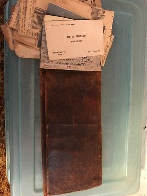 Antique Leather Wallet!! Owner Was Murdered!! Read Story!!